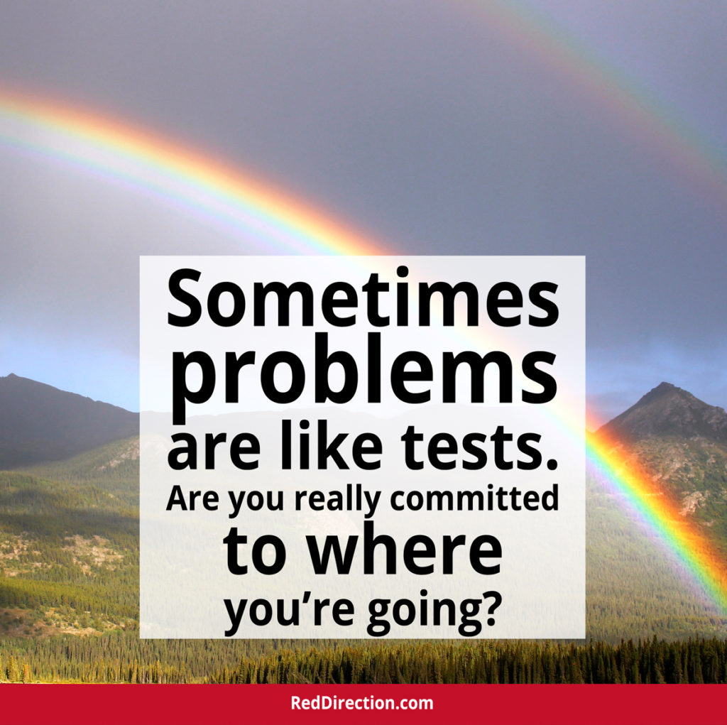 Problems are like tests.